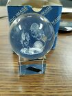 NEW 3 D LASER ETCHED 2 ROUND CRYSTAL GLASS OF AN AQUARIUM