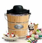 Ice Cream Maker Hand Crank Homemade Frozen Yogurt Sorbet Gelato Manual