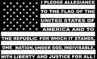 PLEDGE OF ALLEGIANCE USA FLAG CAR WINDOW DECAL...PICK YOUR SIZE AND COLOR