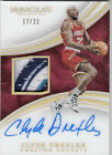 CLYDE DREXLER 2015-16 Immaculate ACETATE PATCH AUTO #17 22