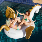 Inflatable Unicorn Pegasus Floating Swimming Pool Beach Waterbed Party Toy Swim