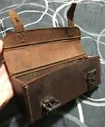Vintage Thick Brown Leather Possibles Ammo Pouch Bag Box Belt? NICE