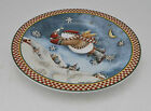 Sakura Debbie Mumm Snow Angel Village One Luncheon / Salad Plate Snowman Angel