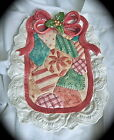 Fitz & Floyd Christmas Quilt Canape Plate 1992