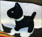VINTAGE 1940s PLUSH STUFFED BLACK SCOTTY DOG - EASTER (No bunny rabbit) PRESENT!