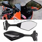 MOTORCYCLE LED TURN SIGNALS INDICATOR FAIRING RACING SIDE MIRRORS CLEAR LENS