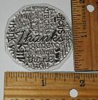THANKS WORDS CIRCLE BACKGROUND unmounted clear cling RUBBER STAMP 5424