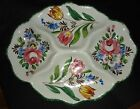 Vintage Signed NSP Handpainted Made in Italy Platter Tulips/Flowers 4 Section