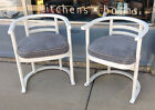 Pair of Vintage Mid Century Modern Bentwood Chairs Rebuilt All New Upholstery