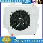 3ROW ALUMINUM RADIATOR+SHROUD+FAN FITS 87 06 JEEP WRANGLER YJ TJ 24 25 40 42