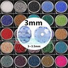 Wholesale 3mm Rondelle Faceted Crystal Glass Loose Spacer Beads