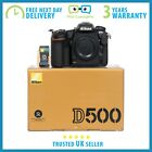 New Nikon D500 209MP DX DSLR Camera 3 Year Warranty Multiple Languages