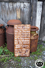 LARGE Primitive Handmade Wood Sign In This House Distressed Rustic Country Home