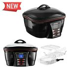 Kitchen Multi Cooker 5.6Qt Programmable 8-in-1 Function 1500W Deep Flyer Cooking