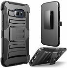 Samsung Galaxy S7 Edge Case HardSoft Rubber Hybrid Armor Impact Defender Cover