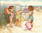 Beach Babies Counted Cross Stitch Kit 14X11 14 Count Pk 1 Dimensions