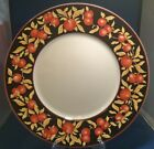 Dansk Apple Blossom Dinner Plate Bamboo Embossing on Rim