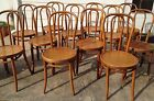 12 Vintage Thonet Blonde Bentwood Ice Cream Parlor Cafe Bistro Chairs  NY