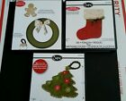 3 SIZZIX bigz dies STOCKING wreath and tag CHRISTMAS TREE