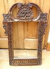 VERY RARE ANTIQUE CARVED OAK MIRROR FRAME DATING C 1760