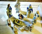 Birth of Jesus Nativity Scene Set of 10 Hand Embellished Porcelain Figurines