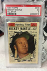 1961 Topps Mickey Mantle All Star #578 Yankees baseball card PSA 5 EX