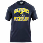 NCAA Michigan Wolverines Youth Winged Helmet T Shirt Youth Medium 10 12