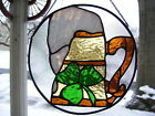 Stained Glass Irish Toast Suncatcher Real Glass
