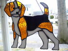 Stained Glass Beagle Dog Suncatcher Real Glass