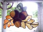 Stained Acorn Cluster Suncatcher Real Glass