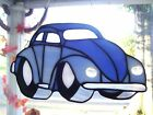 Stained Glass VW Beetle front Suncatcher Real Glass