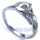 950 A Solid Pure Platinum Unicorn Ring, Sizes 4 to 9.5 #R1327