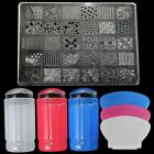 DIY Nail Art Stamping Stamper Kit With Image Plate Scraper Manicure Tool Set USA