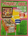 PINBALL POOL by GOTTLIEB 1979 PINBALL ARCADE GAME PROMO SALES FLYER BROCHURE