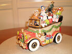 Fitz and Floyd Santa's Classic Car Musical tune We  wish you a Merry Christmas
