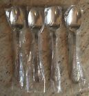 4 NEW SAKURA Stainless SNOWMAN Debbie Mumm OVAL SOUP/PLACE SPOONS FREE SHIP