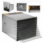 Commercial Food Dehydrator 10 Tray Stainless Steel  Fruit Jerky Dryer Blower