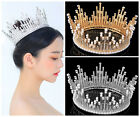 Vintage Wedding Bridal Crystal Headband Queen Full Crown Tiara Hair Accessories