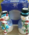 Fitz and Floyd The Flurries Collection  Snowmen Candle Holders Xmas New 1998