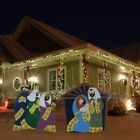 ON SALE 3 FT Christmas Nativity Scene Metal Yard Art New in Box FREE Ship