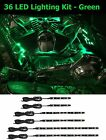 2000-2010 Motorcycle LED Green Lights Strips Kit Engine-Bay Flexible Bright 12V