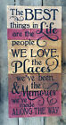 LARGE Primitive Wood Sign The Best Things Country Rustic Distressed Farmhouse
