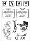 BABY Peek A Boo Collection Clear Unmounted Rubber Stamps Kaisercraft CS275 NEW
