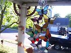 Stained Spring time Butteflies Suncatcher Real Glass