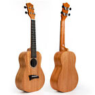 Solid Mahogany Top Concert Ukulele Hawaii Guitar Rosewood Bridge Matt 23 inch