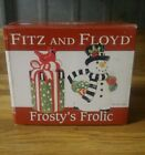 New Fitz and Floyd Frosty's Frolic Salt and Pepper Shakers
