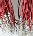 20 Pcs Lots Charms Real Leather Cord Chain Necklace With Lobster Clasp Diy