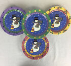 Sango The Sweet Shoppe Salad Plates #3041 Christmas Snowman Set of 8