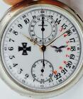 WWI German Luftwaffe Pilots OMEGA CHRONOGRAPH 24h day night military dial watch