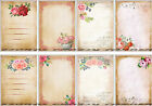 8 FLOWER BACKGROUND MUSIC HANG GIFT TAGS FOR SCRAPBOOK PAGES 68